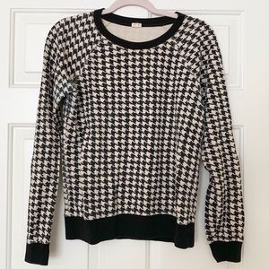 J Crew Factory Houndstooth Sweater